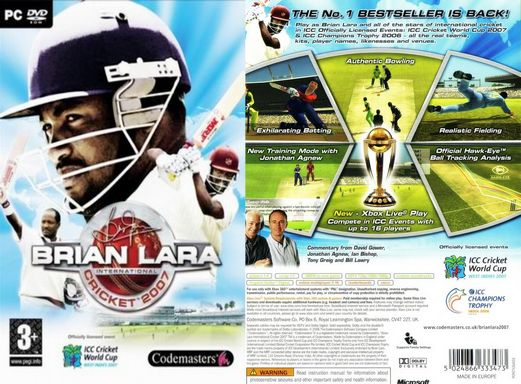 Brian Lara International Cricket 2007 Free Download Full Version PC Game